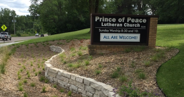 prince of peace church sign
